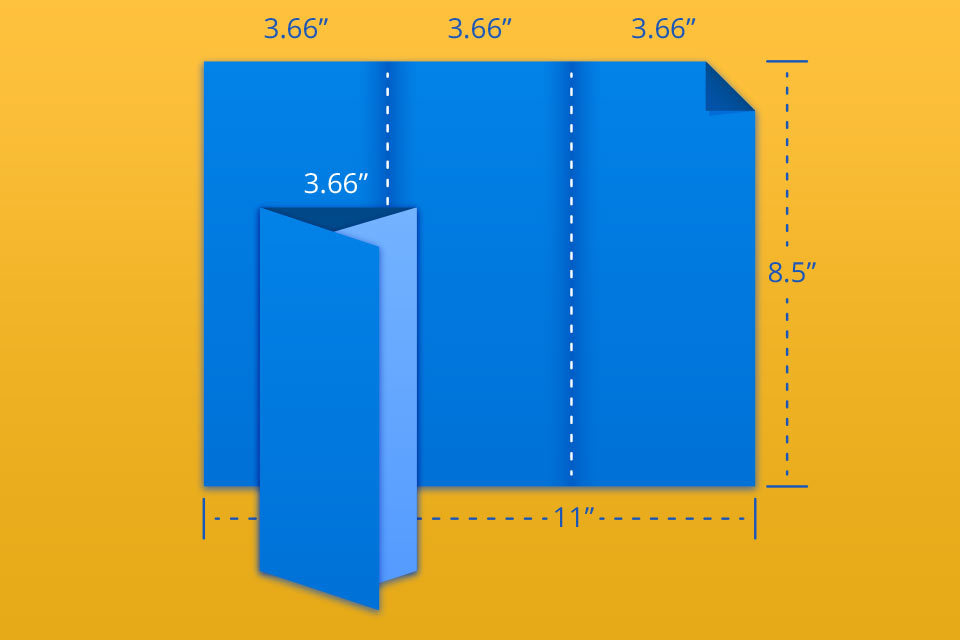 """8.5"""" x 11"""" Trifold/Letterfold"""