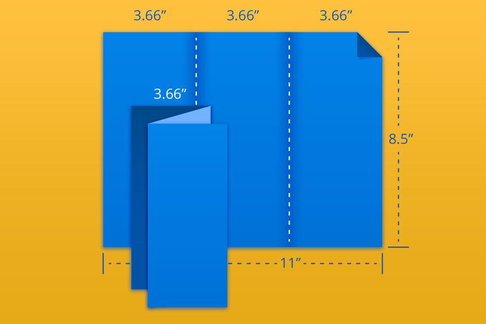 """8.5"""" x 11"""" Trifold / Z Fold"""