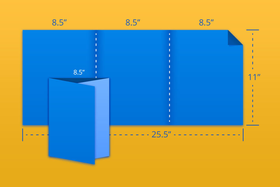 """25.5""""x11"""" Trifold/Letterfold"""