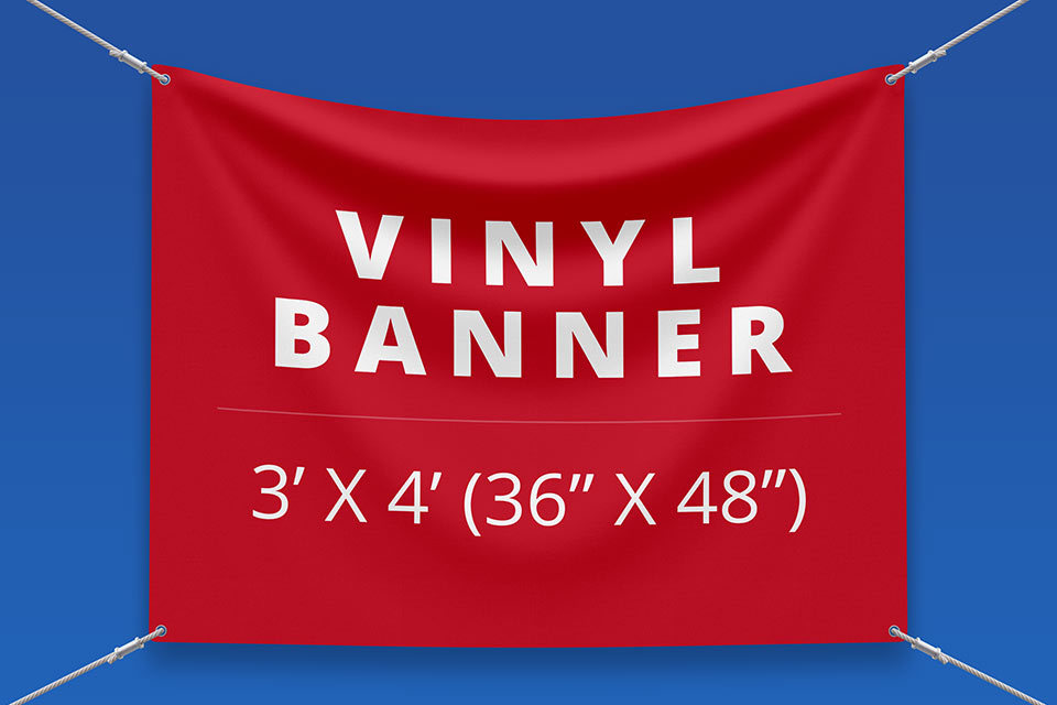 "3' x 4' Vinyl Banner (36"" x 48"")"