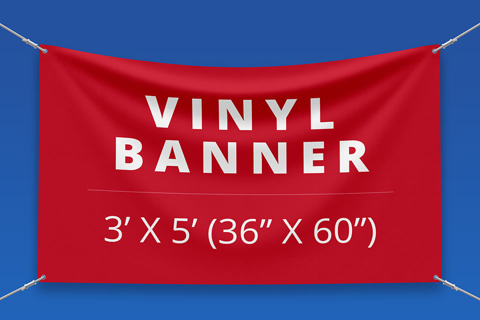 "3' x 5' Vinyl Banner (36"" x 60"")"