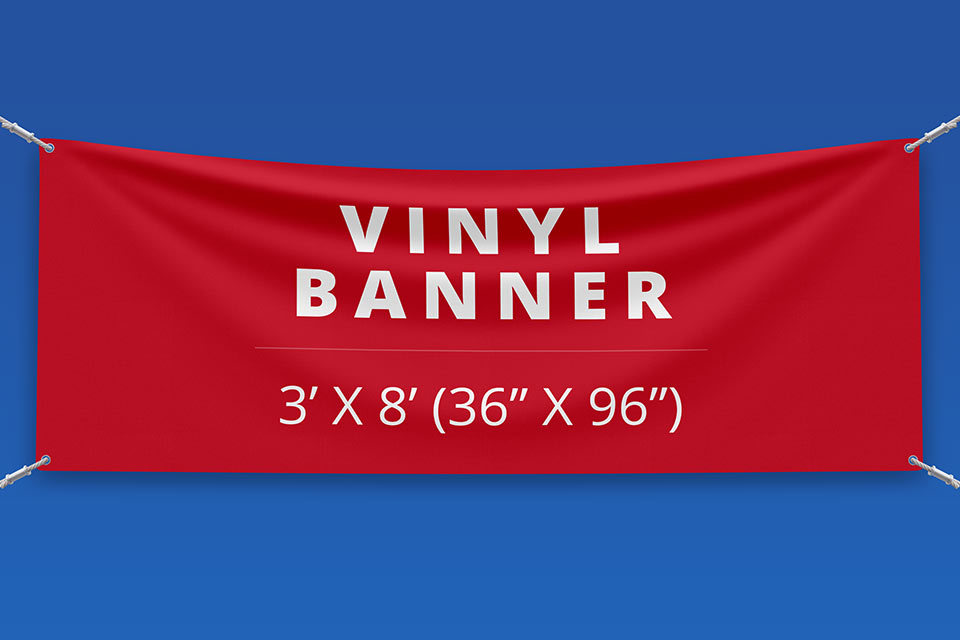 "3' x 8' Vinyl Banner (36"" x 96"")"