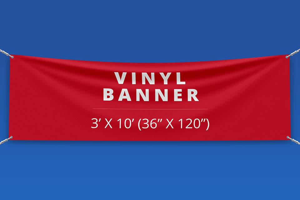 "3' x 10' Vinyl Banner (36"" x 120"")"