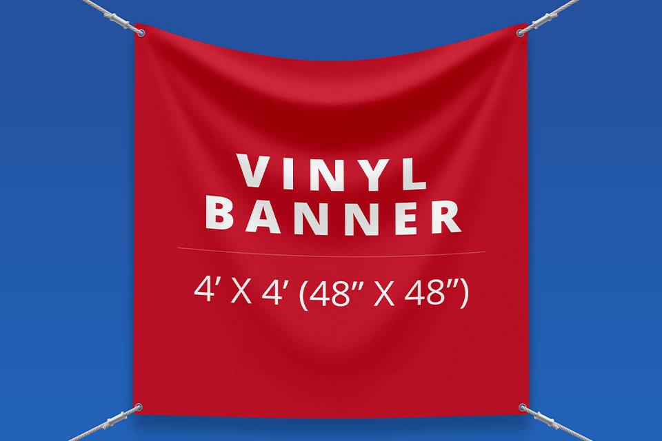 "4' x 4' Vinyl Banner (48"" x 48"")"