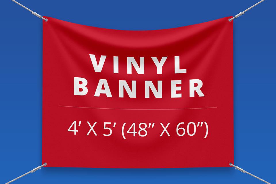 "4' x 5' Vinyl Banner (48"" x 60"")"