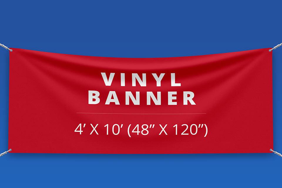 "4' x 10' Vinyl Banner (48"" x 120"")"