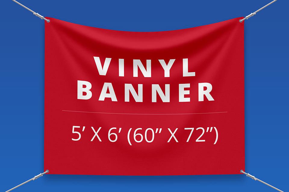 "5' x 6' Vinyl Banner (60"" x 72"")"