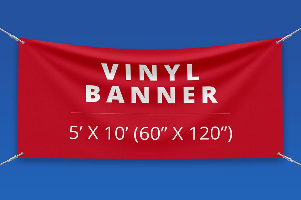"5' x 10' Vinyl Banner (60"" x 120"")"