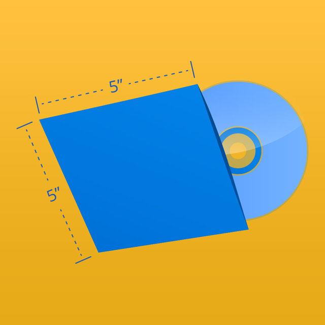 """CD Sleeve - 5"""" x 5"""" Size"""