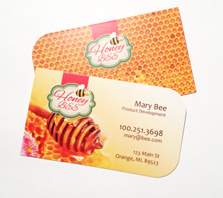 Round corners business card